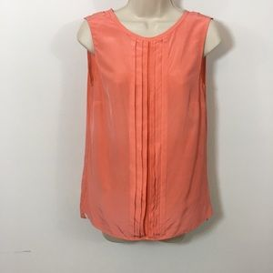 tory burch silk pleated front Sleeveless blouse 2